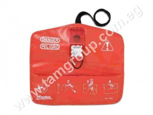 Ball Valve Lockout, Pouch, Red, PVC