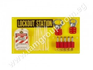 Padlock, Hasp, and Tag Lockout Station