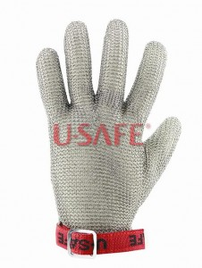 FIVE FINGER WRIST GLOVE WITH TEXTILE STRAP
